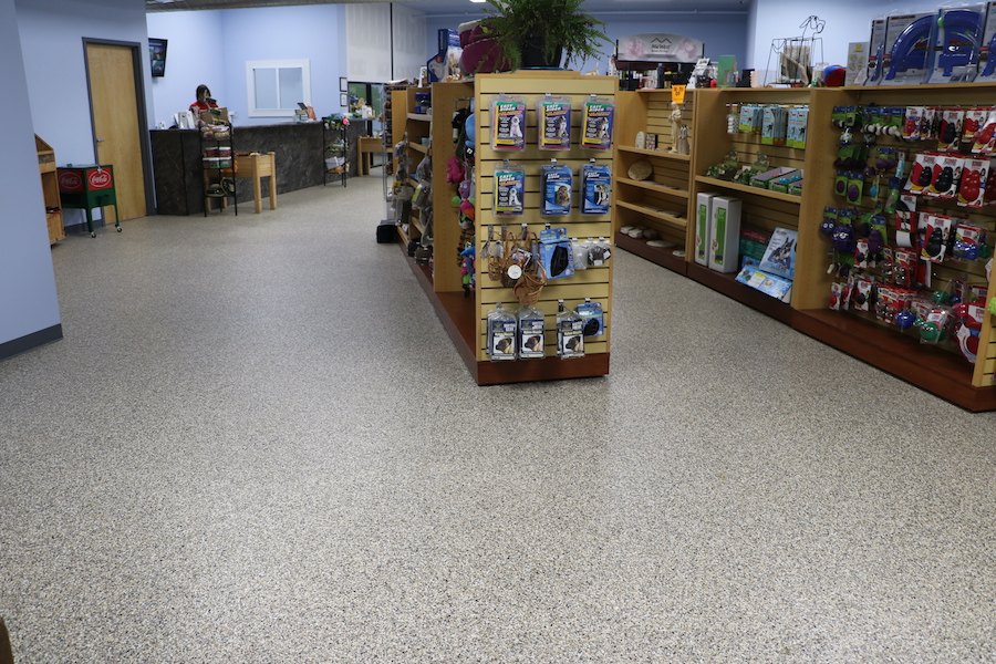 commercial floor with epoxy floor denver