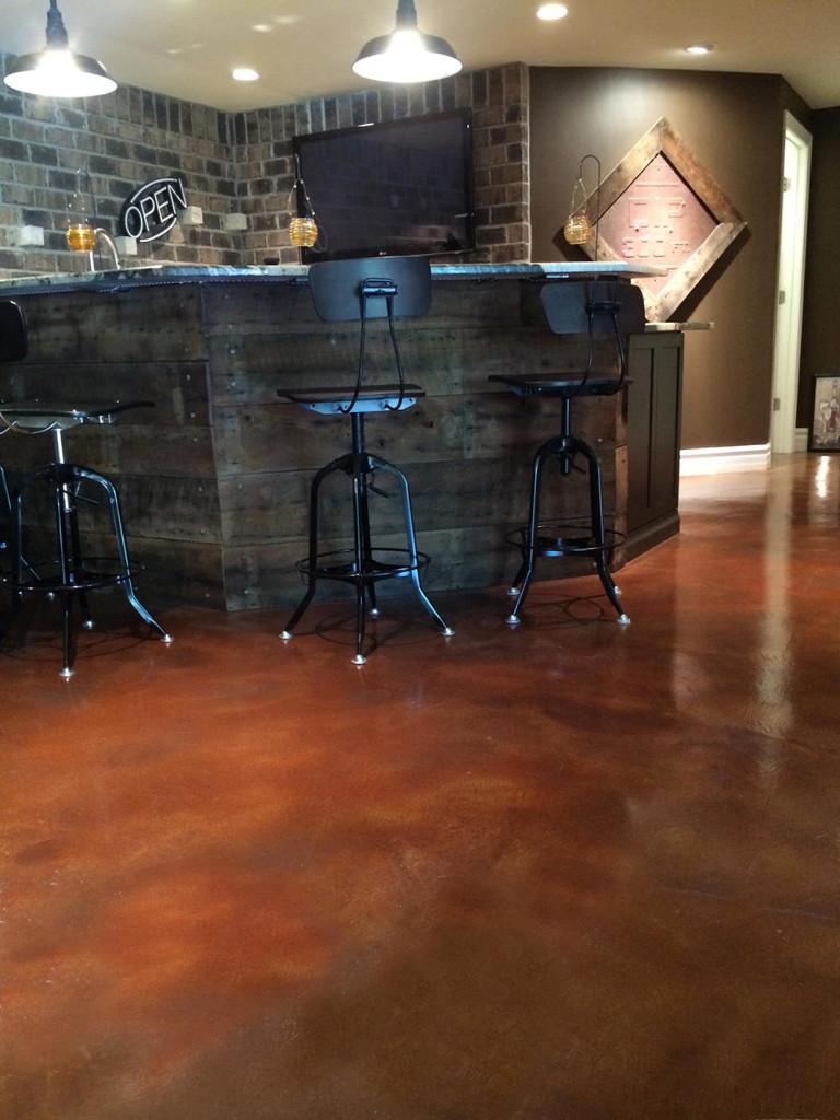 concrete floor acid stain denver