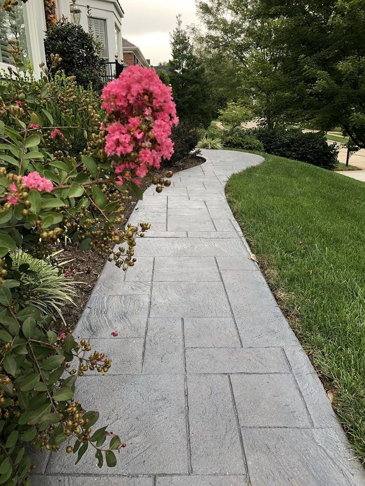 decorative concrete walkway denver