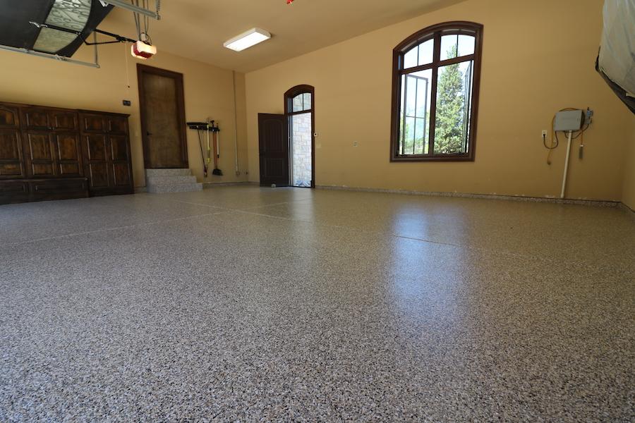 garage floor with epoxy coatings denver