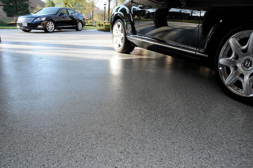 garage floor with epoxy finish denver