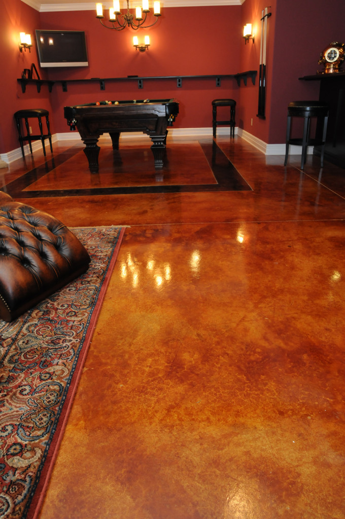 gorgeous floor with acid staining denver