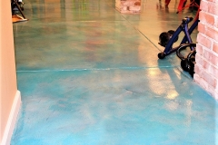 colored concrete interior floor denver