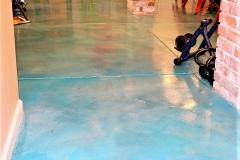 colored concrete interior floor denver