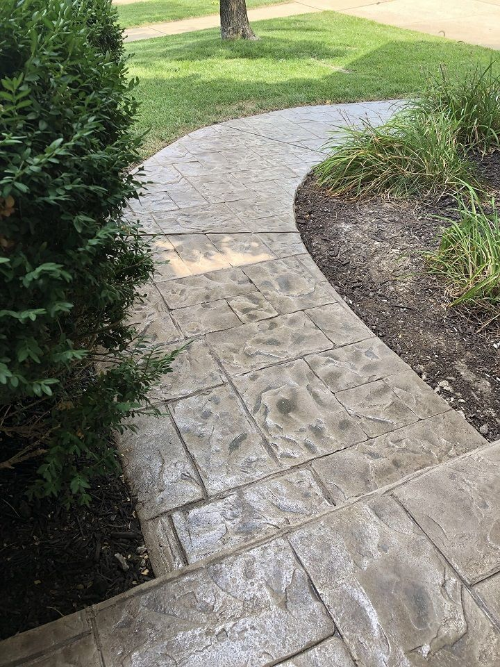stamped concrete walkway denver
