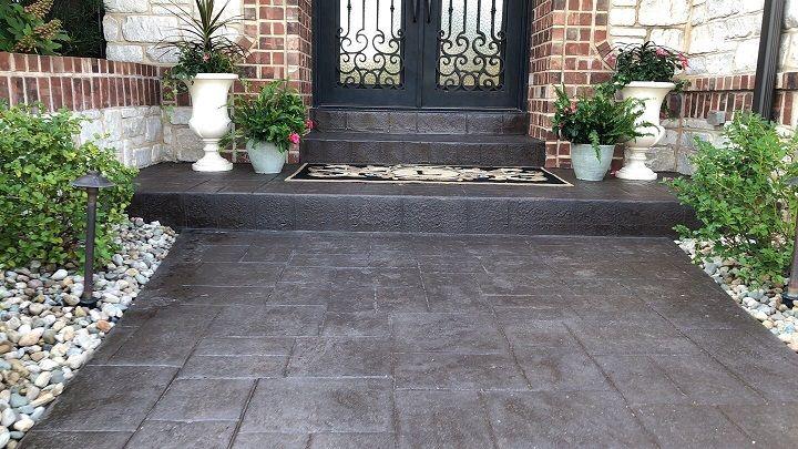 stamping concrete walkway denver