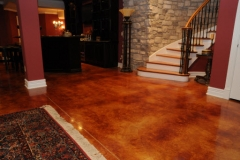 acid stained concrete floor denver