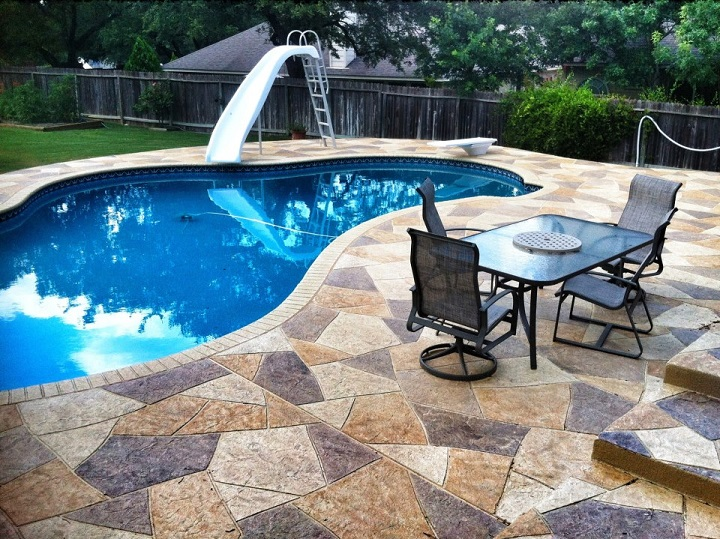 concrete pool deck ideas denver