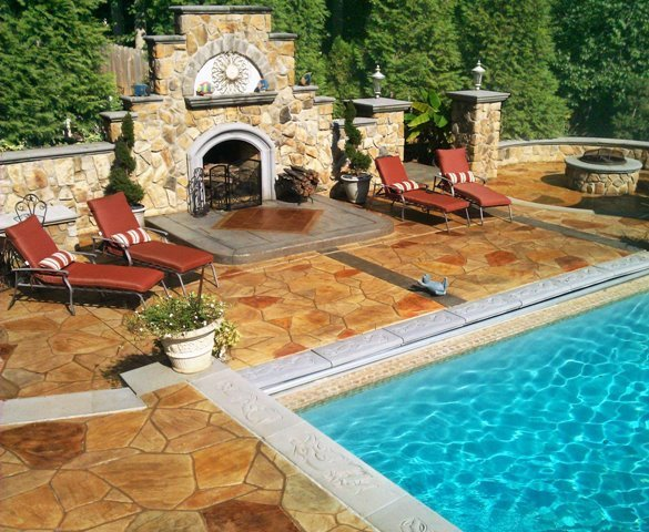 decorative concrete pool deck denver